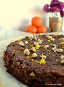 Υγιεινή, πεντανόστιμη τάρτα σοκολάτας με πορτοκάλι κ φουντούκια -Scrumptious healthy orange hazelnut chocolate tart