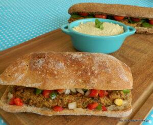 Τα πιο νόστιμα νηστίσιμα μπιφτέκια με μανιτάρια κ χούμους!-The yummiest vegan mushroom hummus burgers!