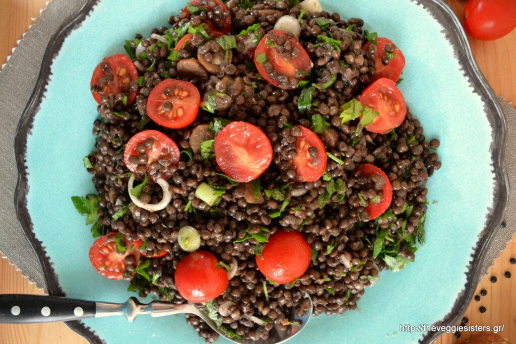Δροσιστική σαλάτα με φακές- Refreshing lentil salad