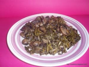 Νηστίσιμο Φρικασέ Mushrooms with spiny chicory