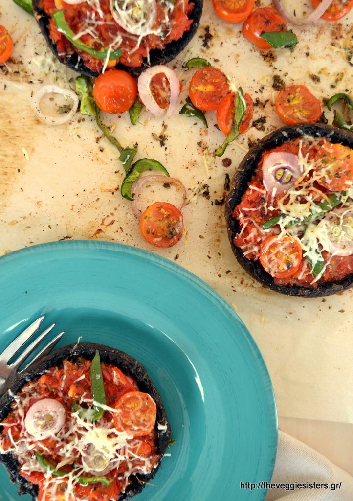 Πίτσα με βάση μανιτάρια πορτομπέλο!