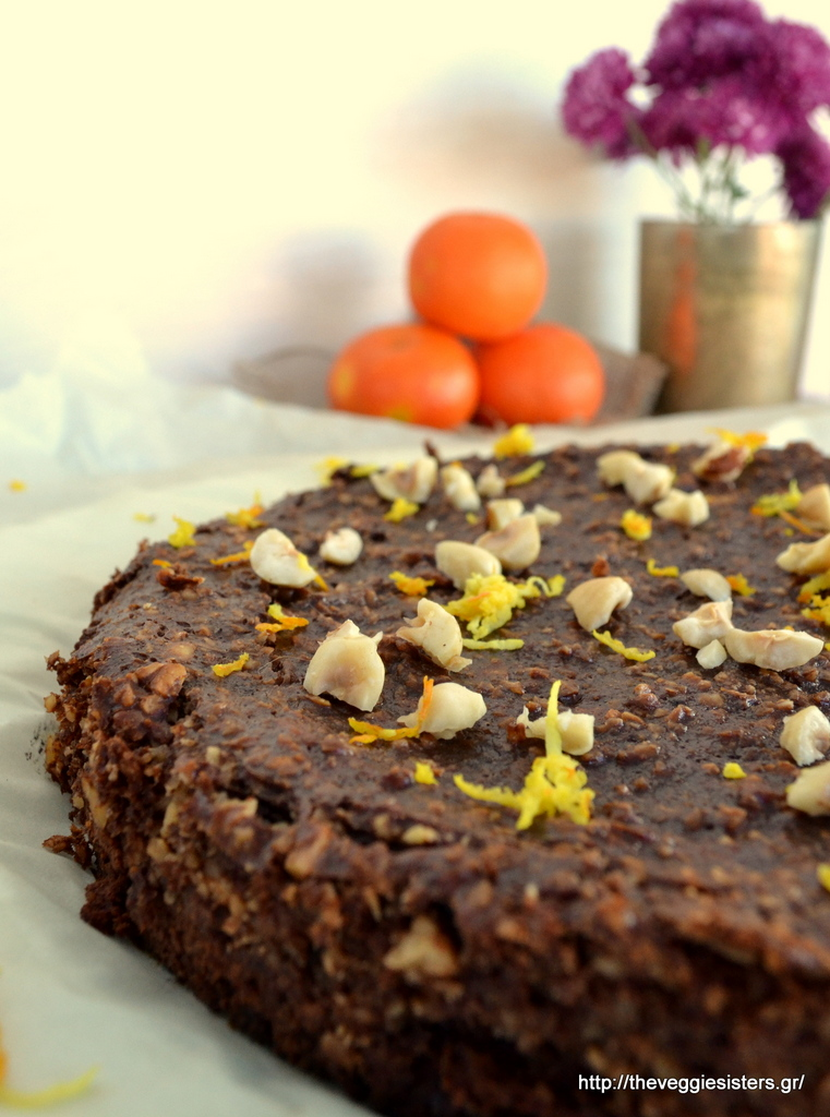 Υγιεινή, πεντανόστιμη τάρτα σοκολάτας με πορτοκάλι κ φουντούκια