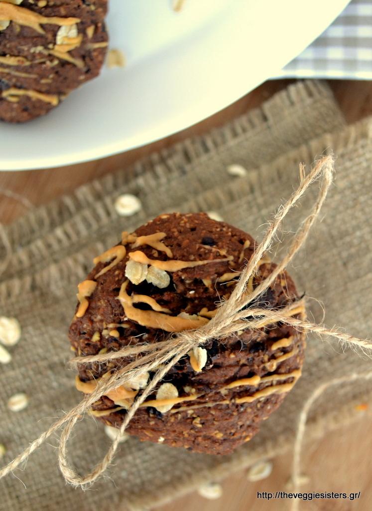 μπισκότα με αβοκάντο, βρώμη κ σοκολάτα