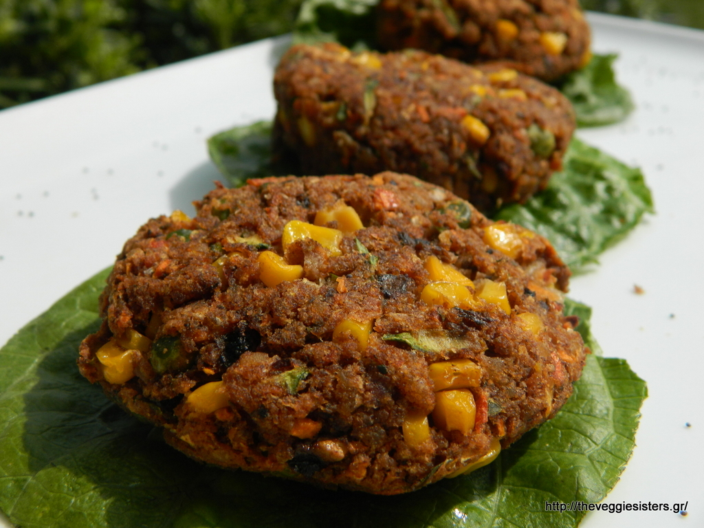 Πεντανόστιμα μπιφτέκια λαχανικών κ ρυζιού