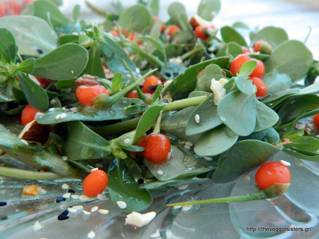 Σαλάτα με αντράκλα και φρέσκα goji berries
