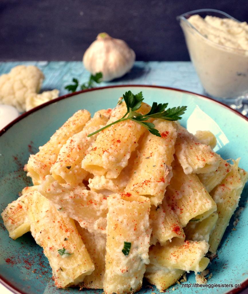 Ριγκατόνι με κρεμώδη σάλτσα από κουνουπίδι