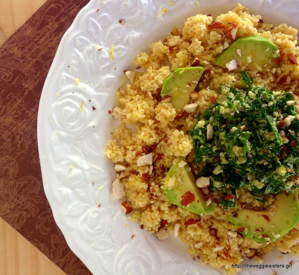 Αρωματικό κεχρί με μυρωδικά, αμύγδαλα κ αβοκάντο – Herbed avocado millet
