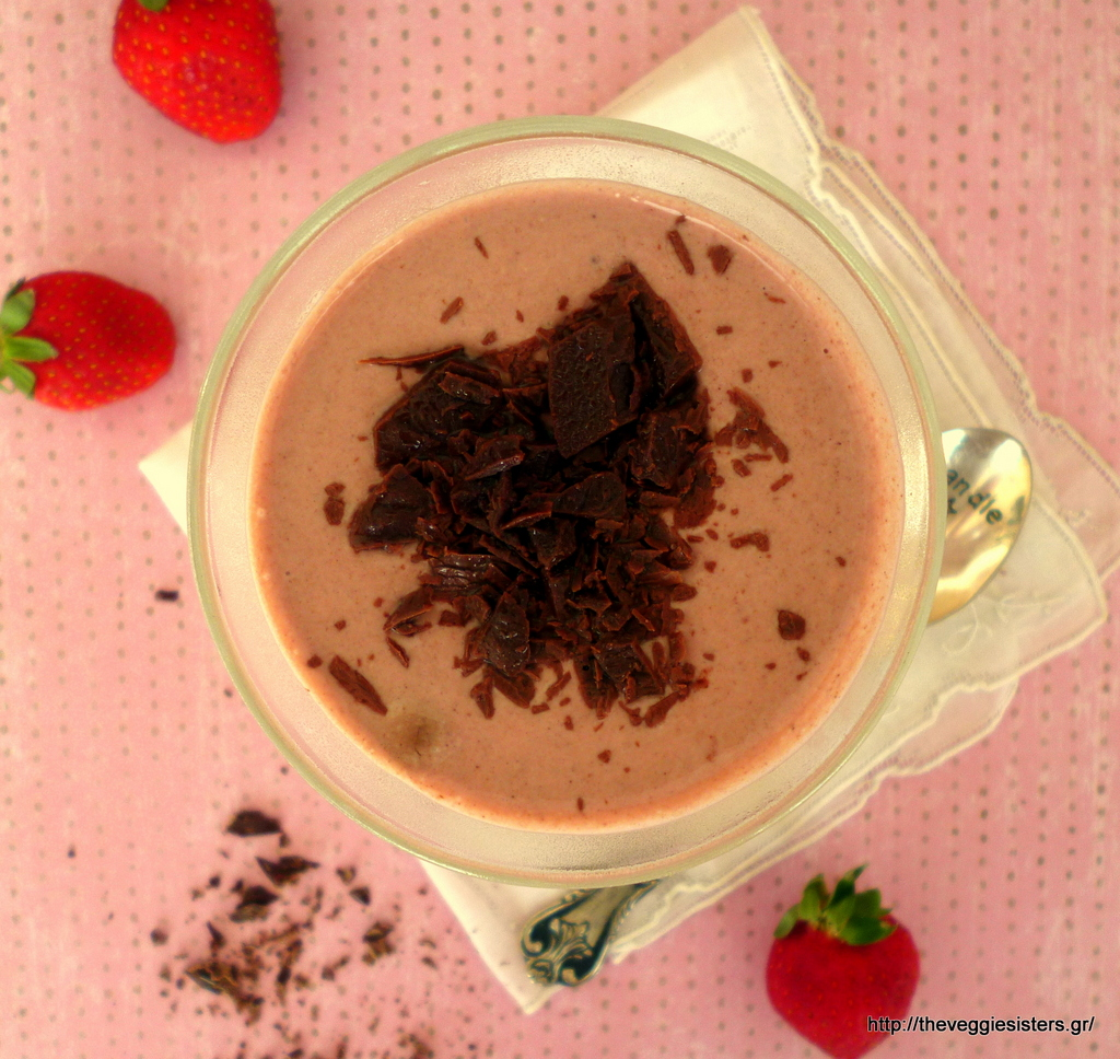 Σοκολατένια μους φράουλας