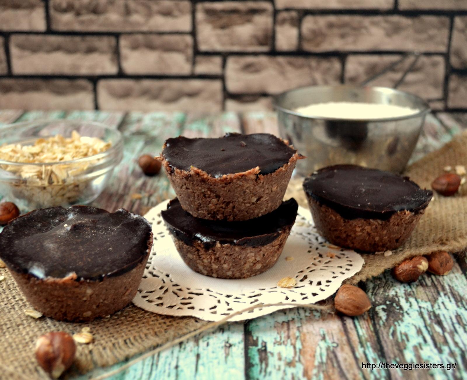 Πανεύκολο σοκολατένιο γλυκάκι με καρύδα - Raw chocolate coconut cups