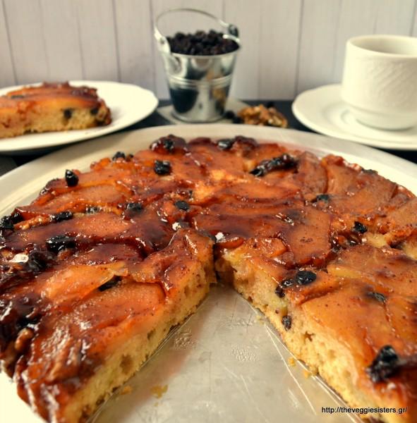 Νηστίσιμη αναποδογυριστή μηλόπιτα – Vegan apple tarte tatin