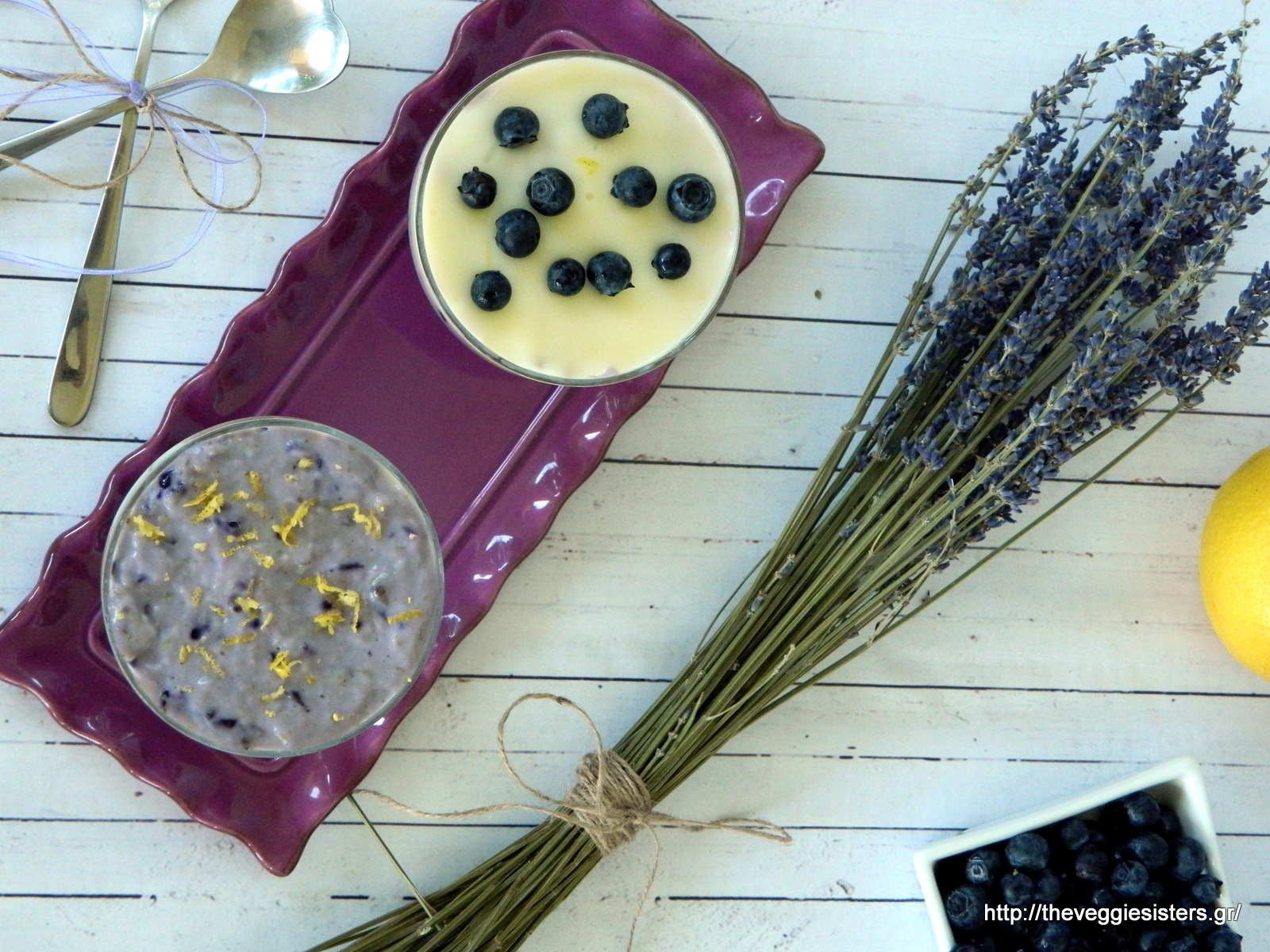 Νηστίσιμο cheesecake με μύρτιλλα κ λεμόνι - Vegan lemon blueberry cheesecake