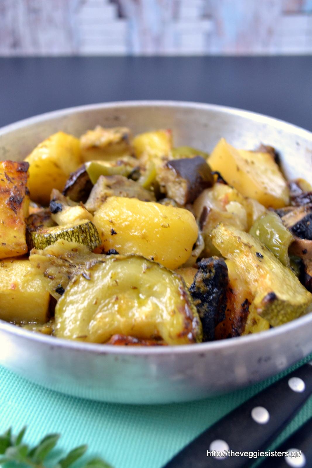 Λεμονάτο μπριάμ - Lemony briam (Greek veggie bake)