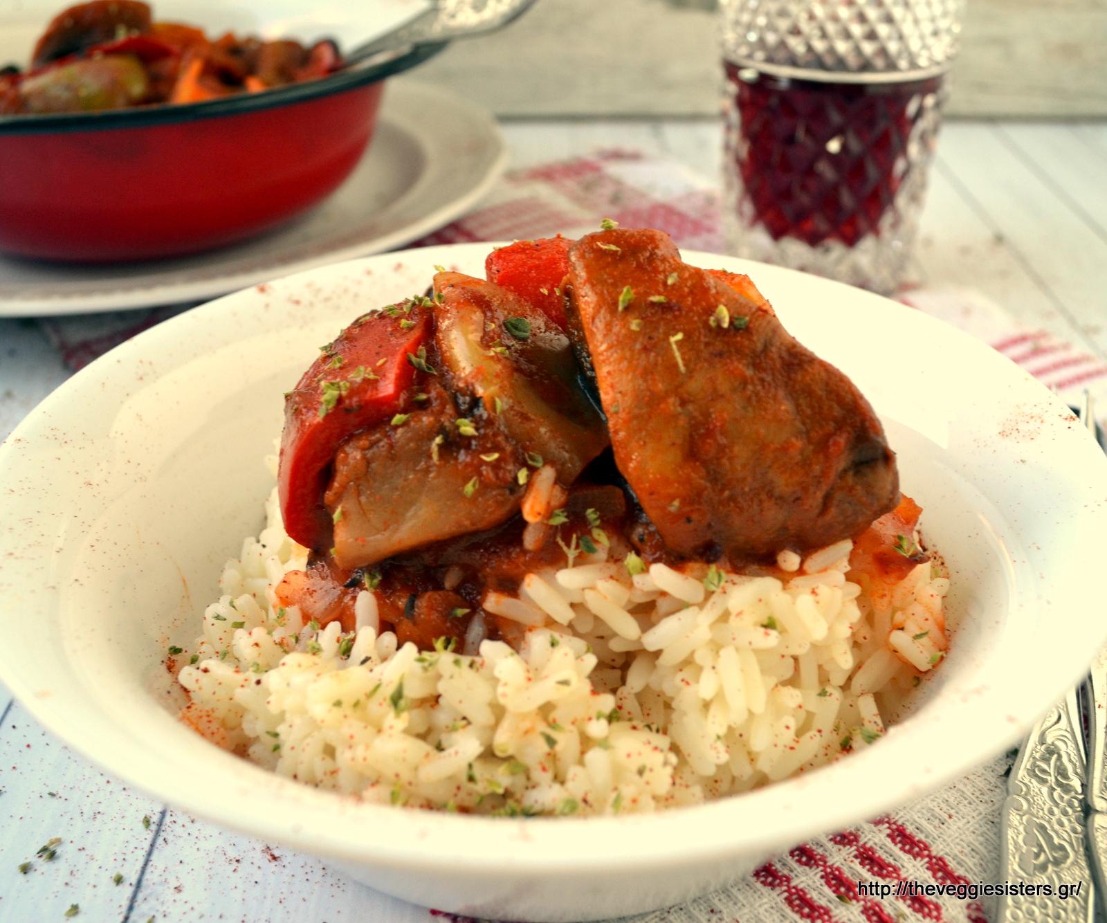 Χορτοφαγικό σπετσοφάι - Vegan traditional spetsofai