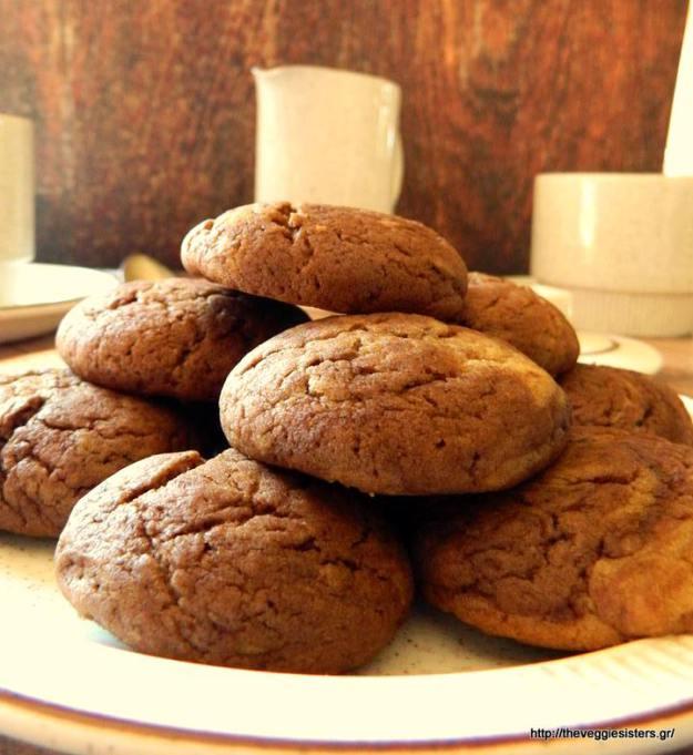 Μπισκότα με κακάο κ φιστικοβούτυρο - Chocolate peanut butter cookies