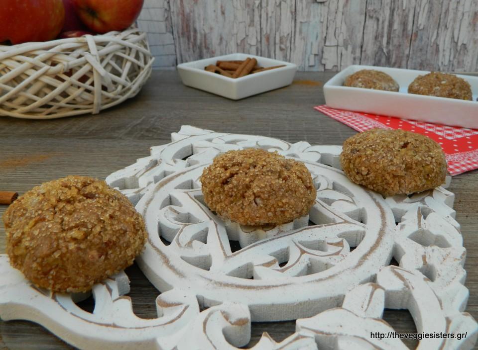 Μπισκότα μήλου χωρίς ζάχαρη – Apple date sweetened cookies