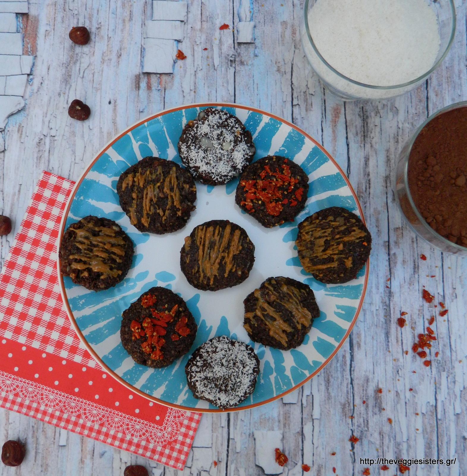 Πεντανόστιμα θρεπτικά σοκολατένια μπισκότα χωρίς ψήσιμο