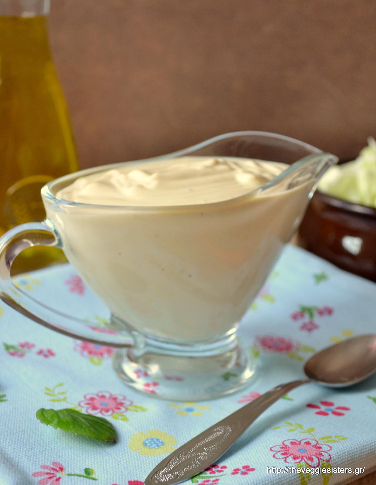 Υπέροχη φυτική ελαφριά μαγιονέζα - Delicious vegan mayonnaise