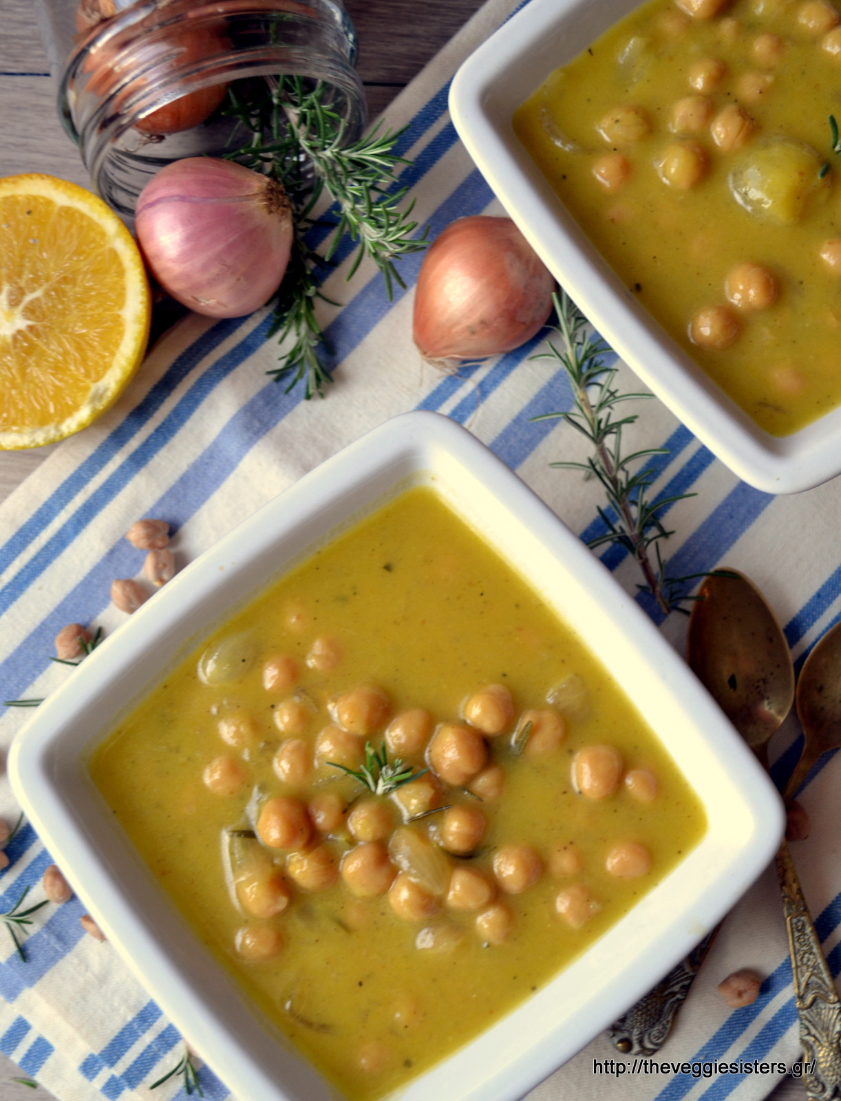 Ρεβυθάδα με πορτοκάλι