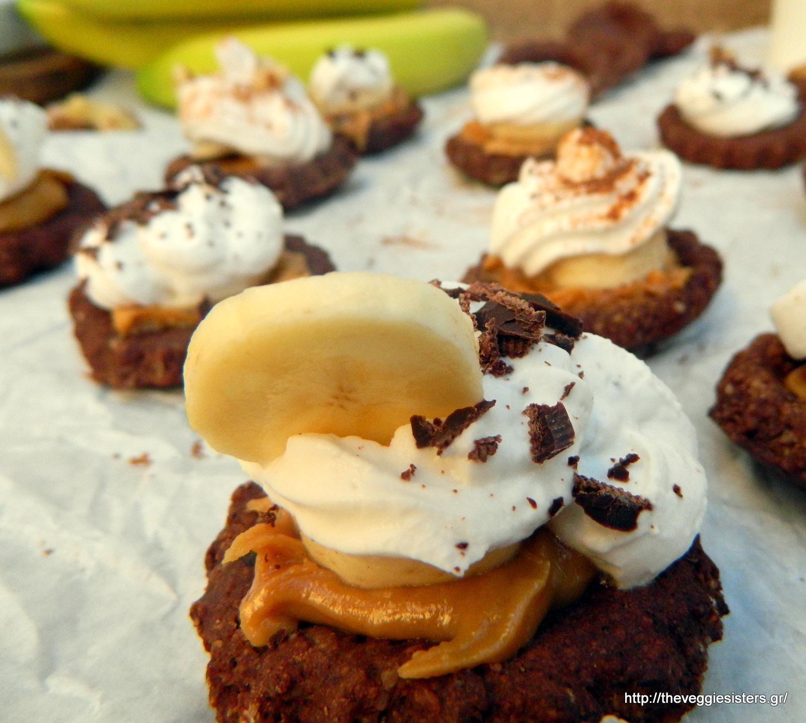 Λαχταριστά ταρτάκια banoffee (νηστίσιμα κ χωρίς γλουτένη) - Mini scrumptious vegan gf banoffee tarts