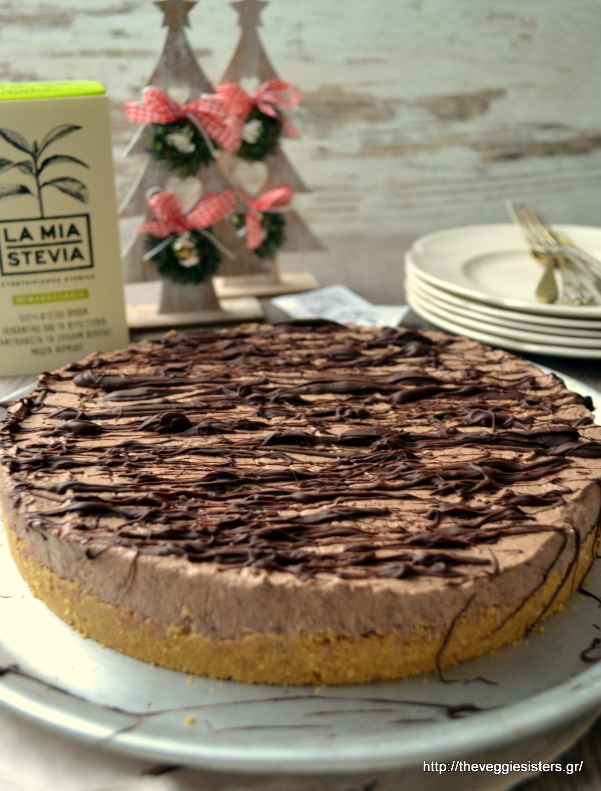 Υπέροχο cheesecake σοκολάτα-καρύδα