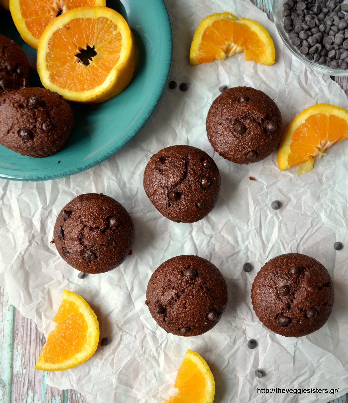 Νηστίσιμα μάφιν σοκολάτας πορτοκαλιού