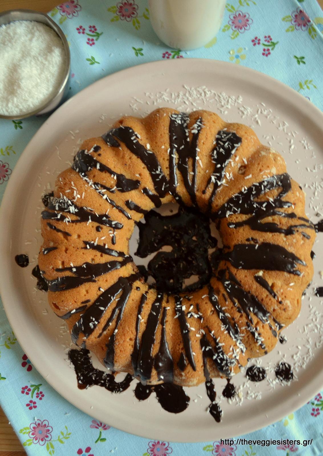 Vegan κέικ σοκολάτα καρύδα