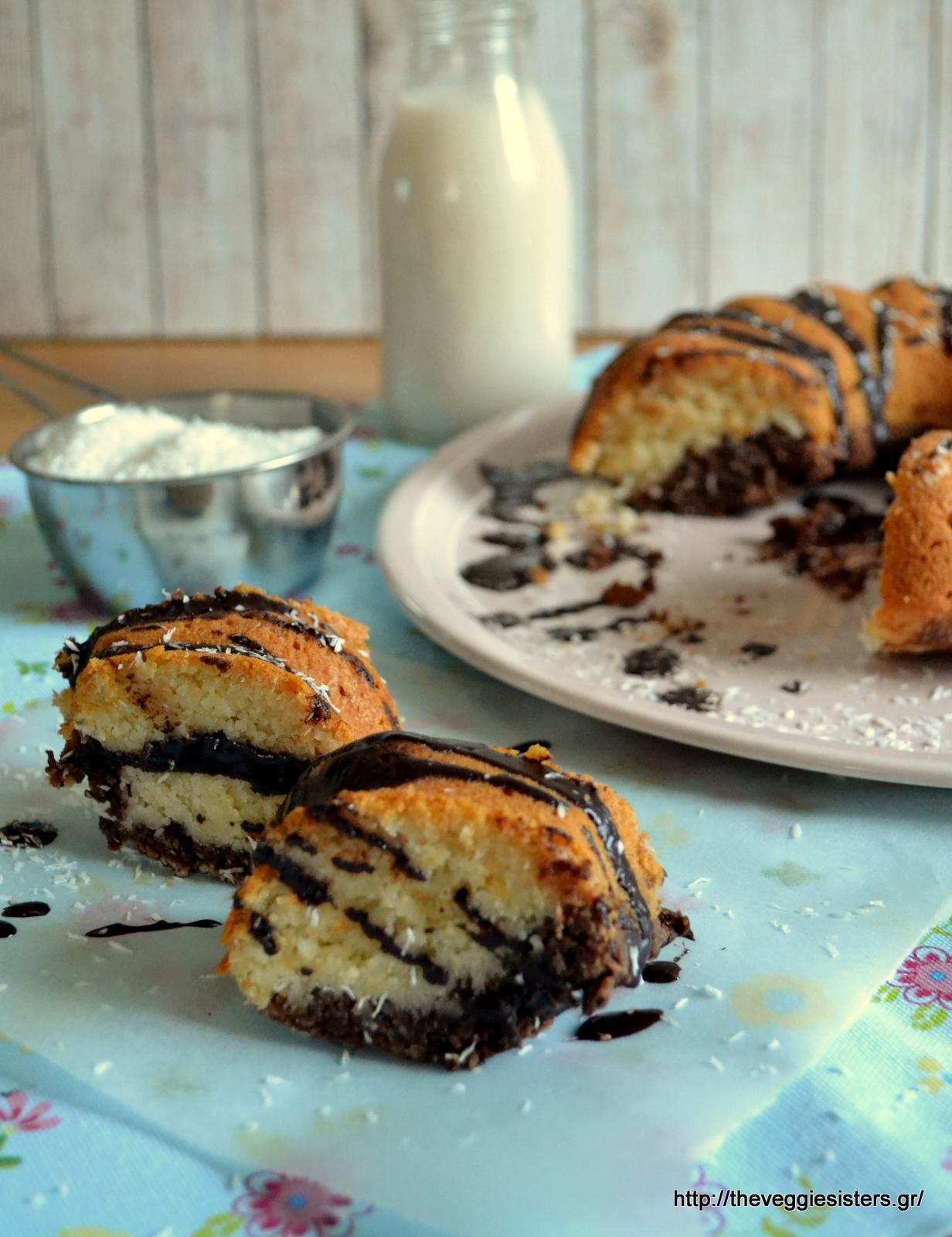 Κέικ σοκολάτα καρύδα