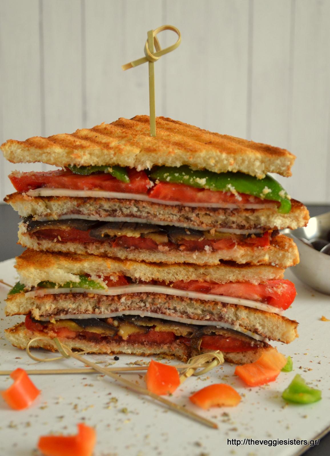 Μεσογειακό club sandwitch
