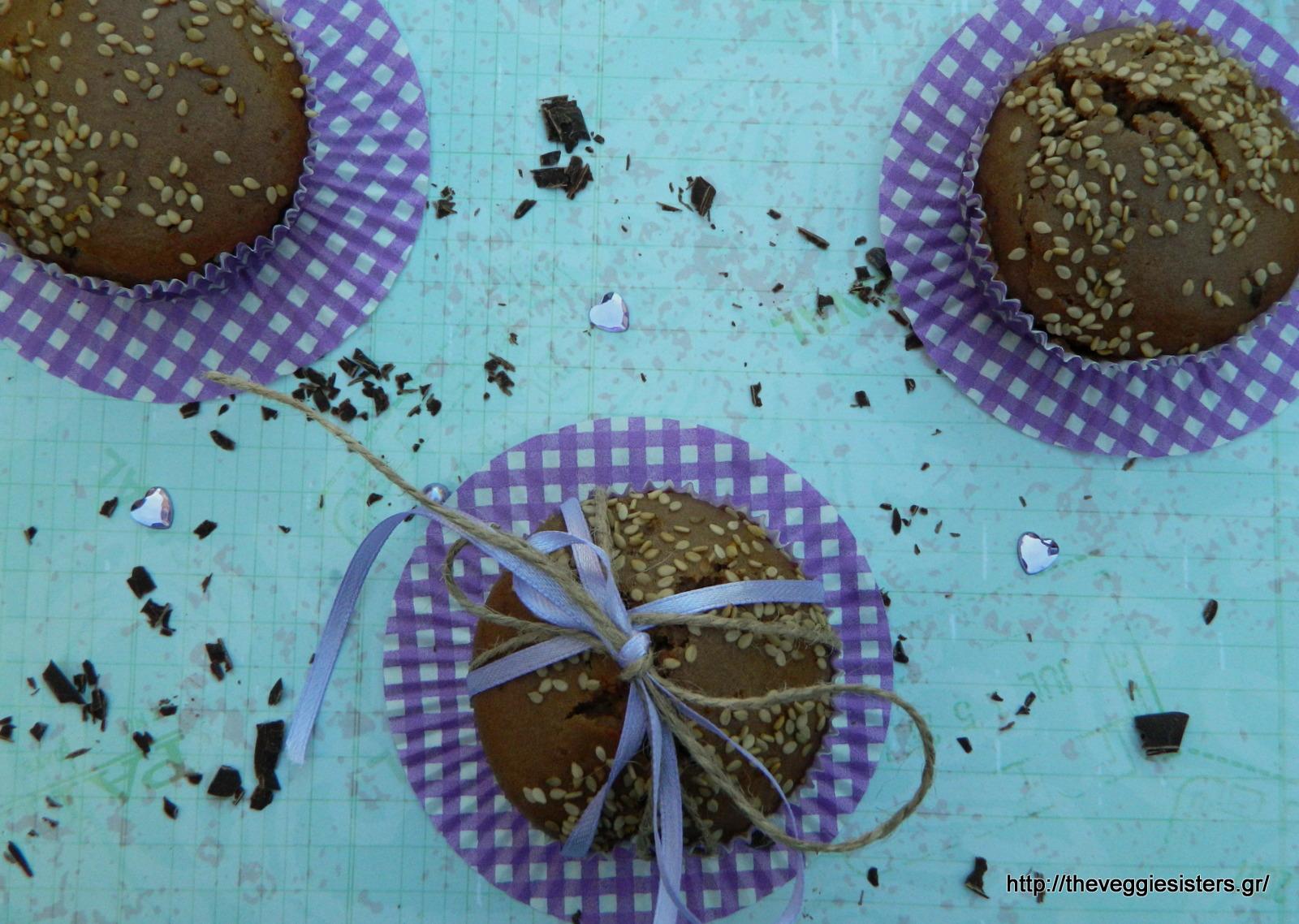Σοκολατένια μάφινς με ταχίνι