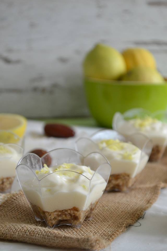 Vegan cheesecake λεμόνι