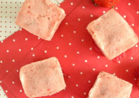 Παγωτίνια φράουλας