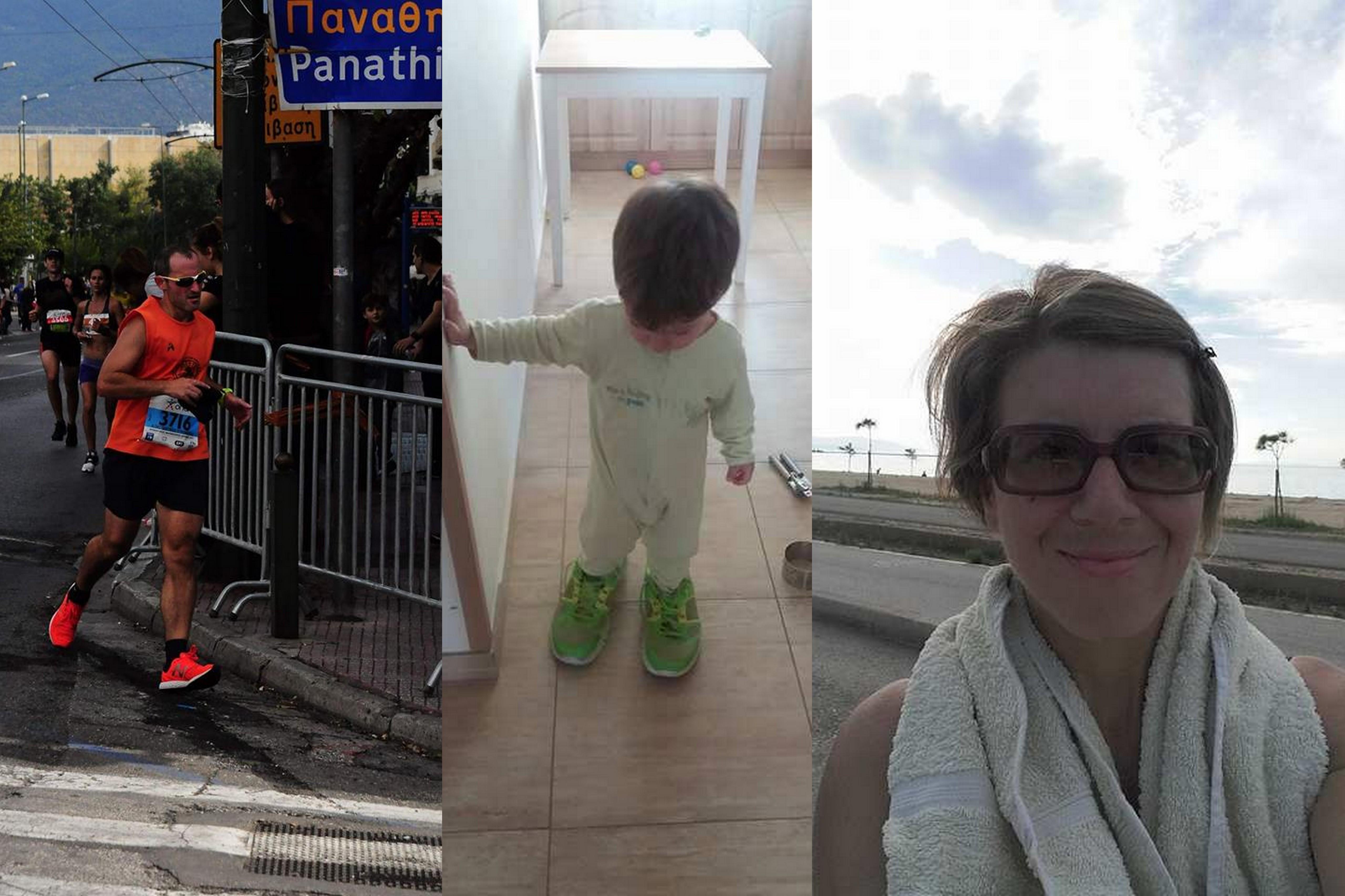 Ο μπαμπάς στον Μαραθώνιο, η μαμά στην προπόνηση και ο Δημητράκης στη δρομική εκκόλαψη!