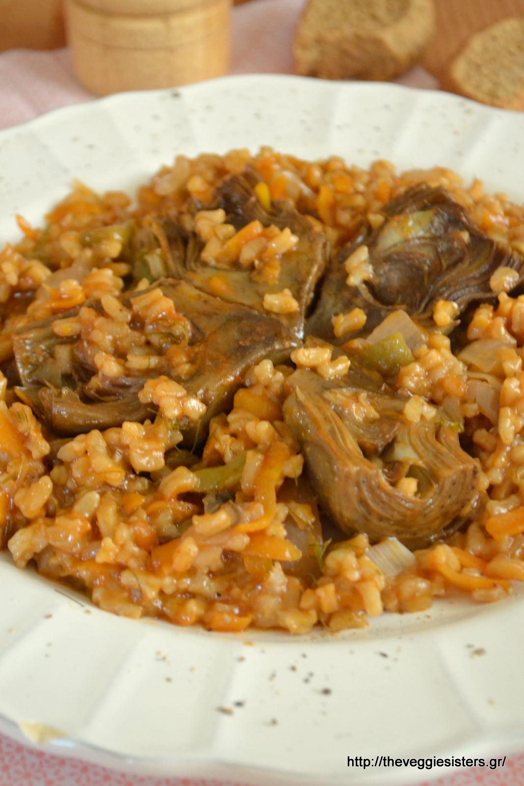 Ρύζι με αγκινάρες