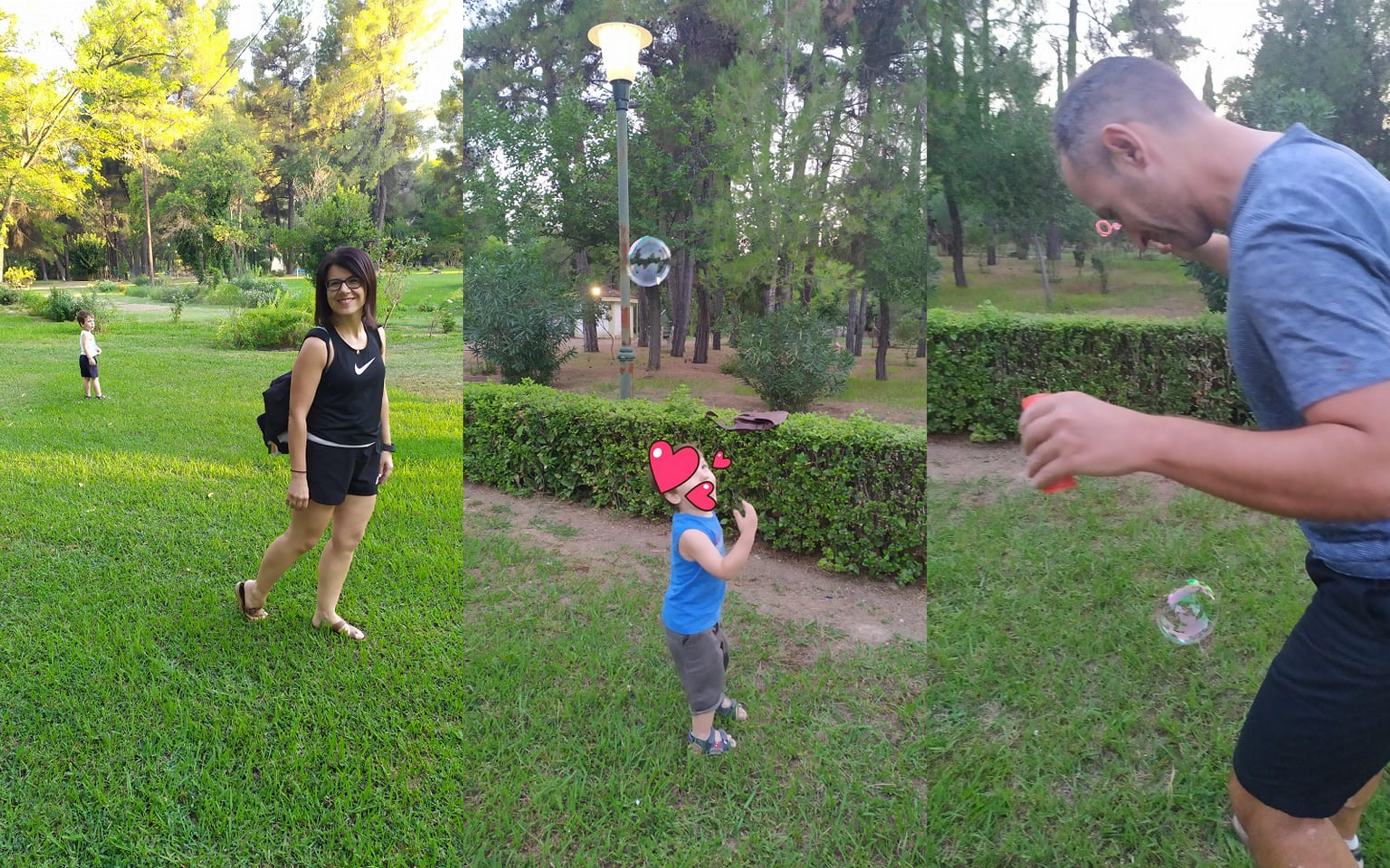 Παίζοντας στο πανέμορφο πάρκο των Λουτρών Υπάτης