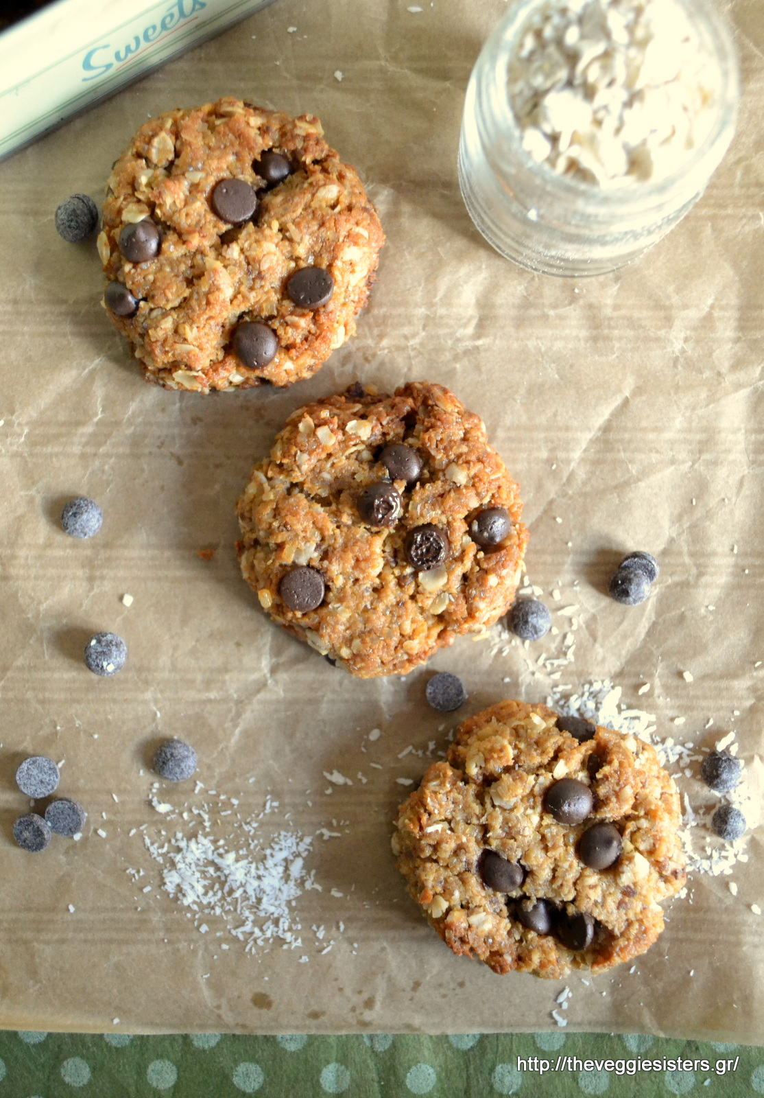 Μπισκότα με ταχίνι χωρίς αλεύρι